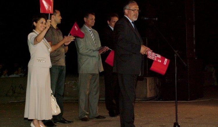 Николина Чакърдъкова пя за Коалиция за България в Сливен
