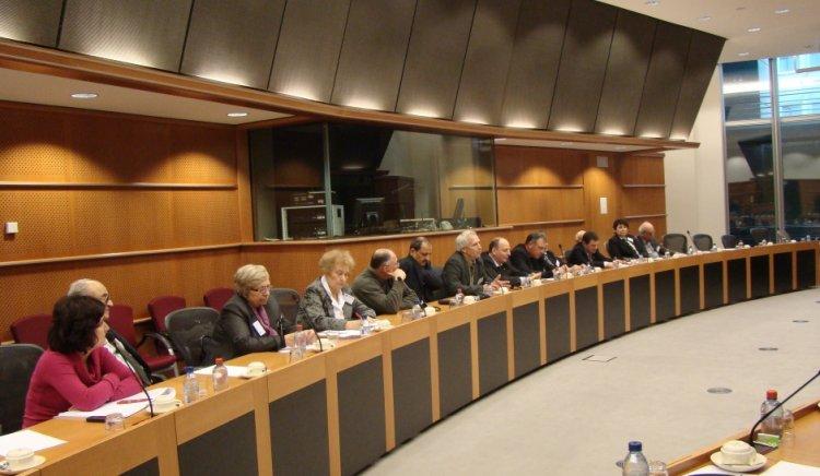 Делегация на Съюза на тракийските дружества посети Европейския парламент по покана на Евгени Кирилов