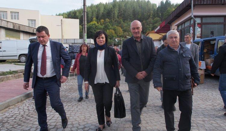 Корнелия Нинова в Трън: Ще  спрем машината на ГЕРБ за натиск с помощта на хората